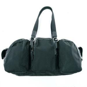 Agnes B. Voyager Black Nylon Shoulder Bag